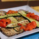 Peperoni, melanzane e zucchine